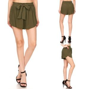 Pants - COMING SOON 💚 Paper Bag Waist Shorts with Sash